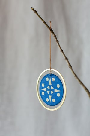Image of Christmas Decoration in Cobalt Blue