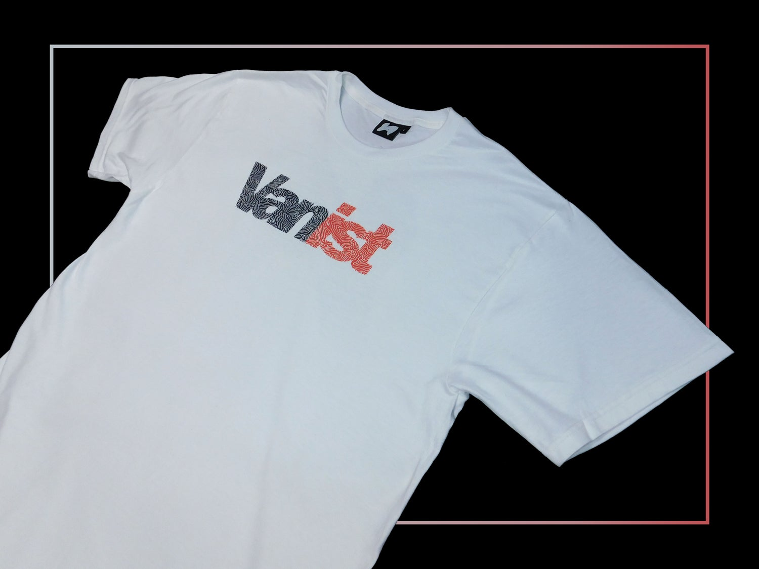 Image of White Fingerprint Short Sleeve