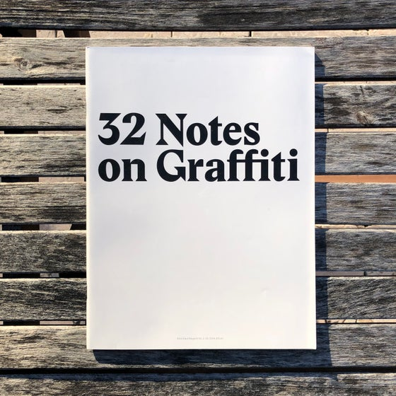 Image of 32 Notes on Graffiti