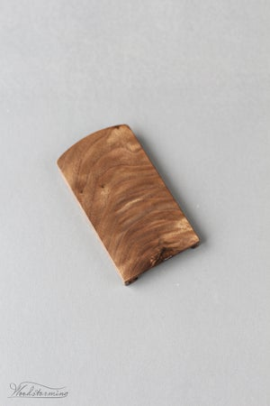 Image of Walnut business card holder - unique live edge OOAK accessory for cards 90 x 50 mm