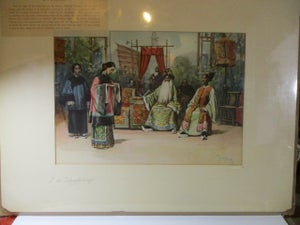 Image of N190 Large singed & matted print of Chinese performers on Midway