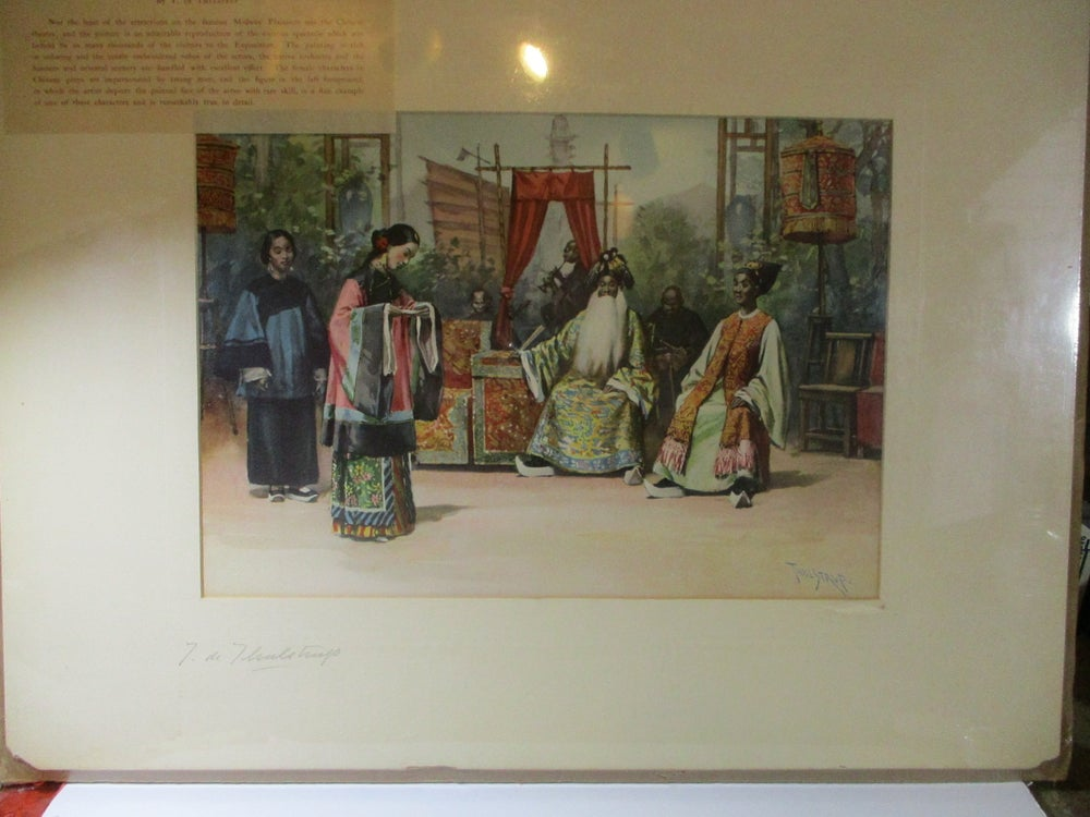 Large Print from an Original Painting Done @ Midway Plaisance--Signed on the Mat, Lot #152
