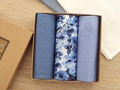 Image of Italian Men's Handkerchiefs Blue Florals