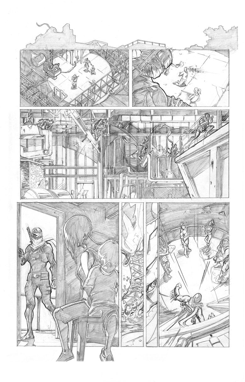 Image of Shinobi Page 2 Original Art