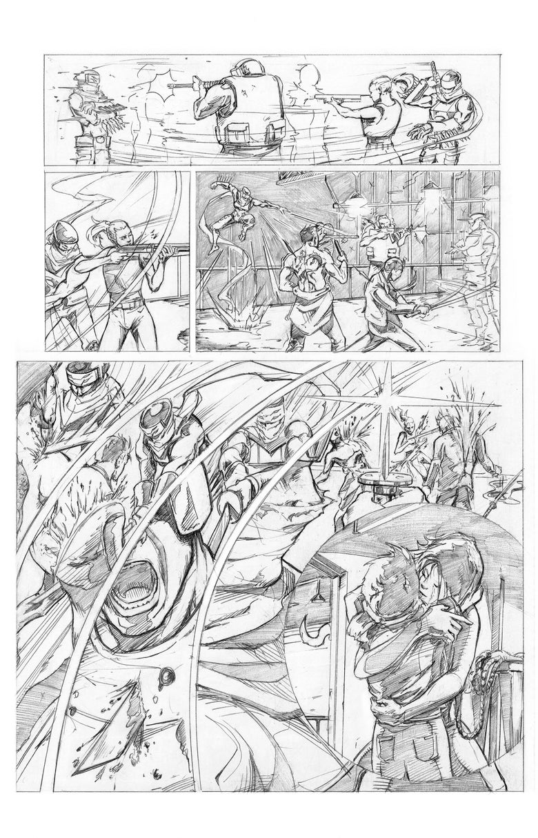 Image of Shinobi Page 3 Original Art