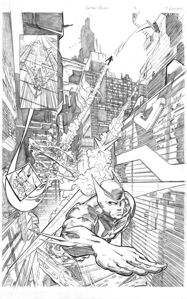 Image of Batman Beyond Page 3 Original Art