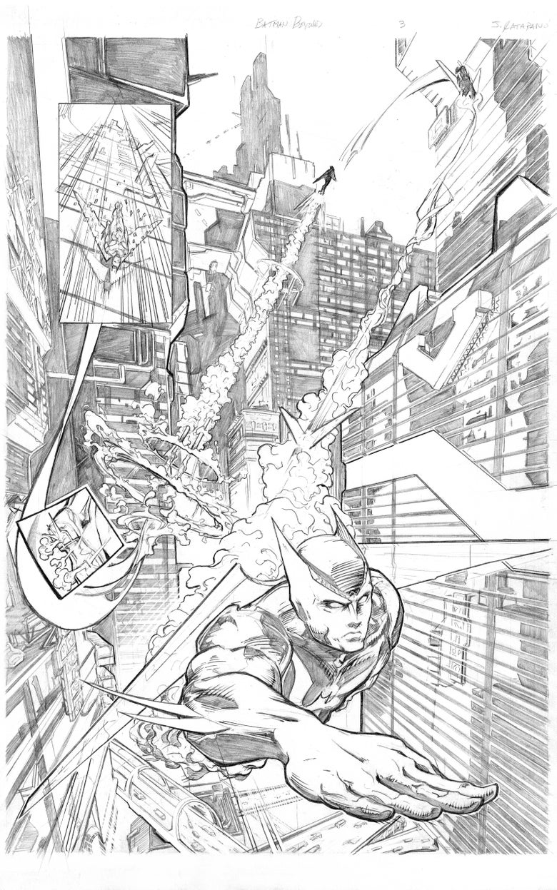 Image of Batman Beyond Page 3 Original Art