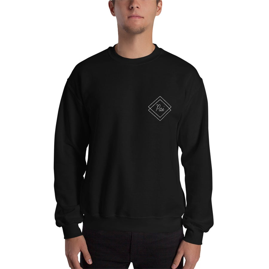 Image of Shaded Pai Crewneck Sweater (Black)