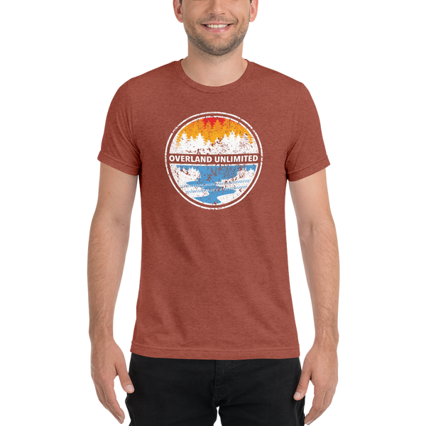 Image of Men's/Unisex Triblend OLU T-Shirt - Clay