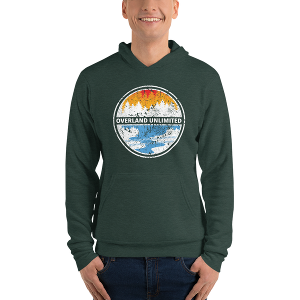 Image of Unisex Fleece Pullover Hoodie - Heather Forest