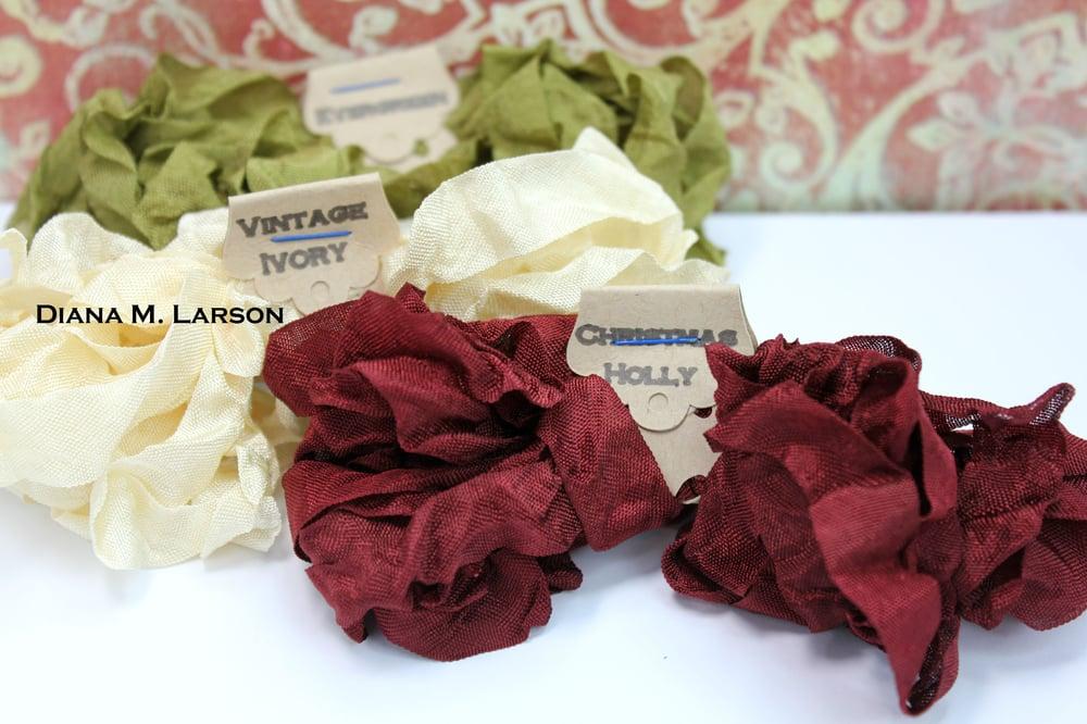 Image of Vintage Christmas Crinkle Ribbon