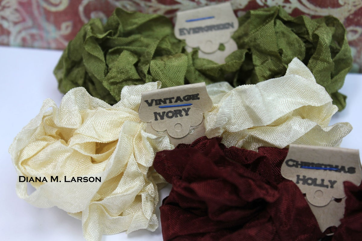 Image of Vintage Christmas Crinkle Ribbon