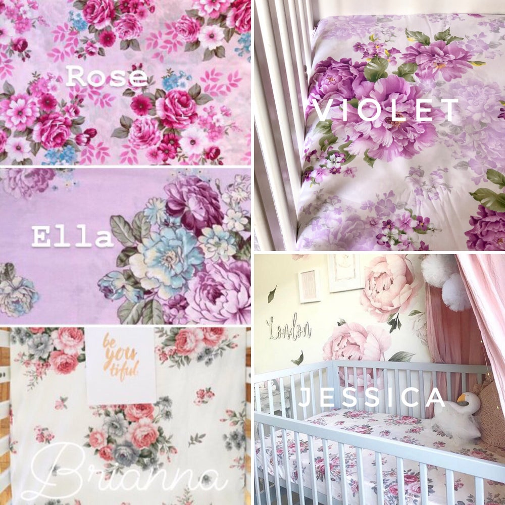 Image of Floral Collection - Cot Sheets