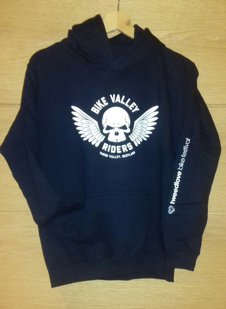 Image of Dark Navy Bike Valley Riders Hoodie - Youth Sizes Available
