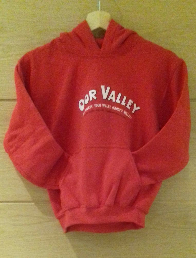 Image of Red 'Oor Valley' Hoodie - Youth