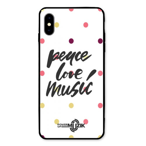 Image of 'Peace, Love, Music' - Power of Muzik - Phone Case