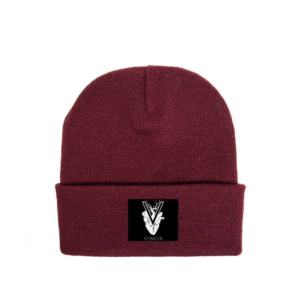Image of Beanie Bordeaux Red