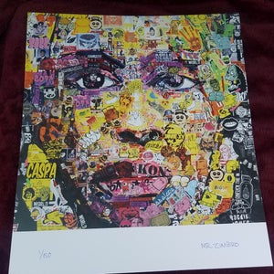 Image of Nick Zimbro Limited Run Signed Print - Collage Portrait