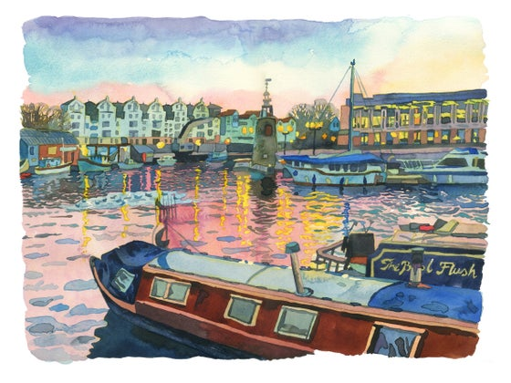 Image of Sunset Bristol Harbour