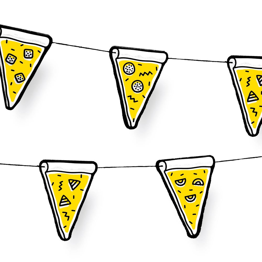Image of Pizza Wimpelkette (bunting rope)