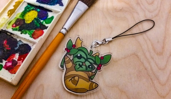 Image of Green leaf Korok - Charm
