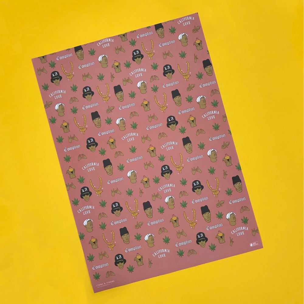 Image of West Coast (w)rapping paper (x5)