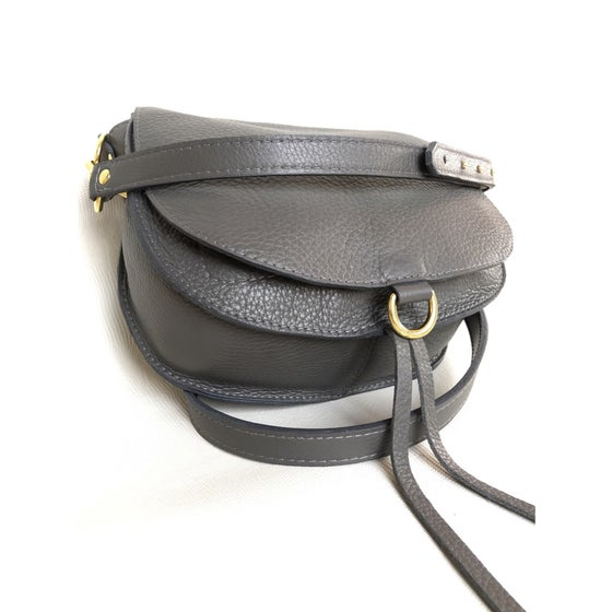 Image of SaddleBag small inside out grey
