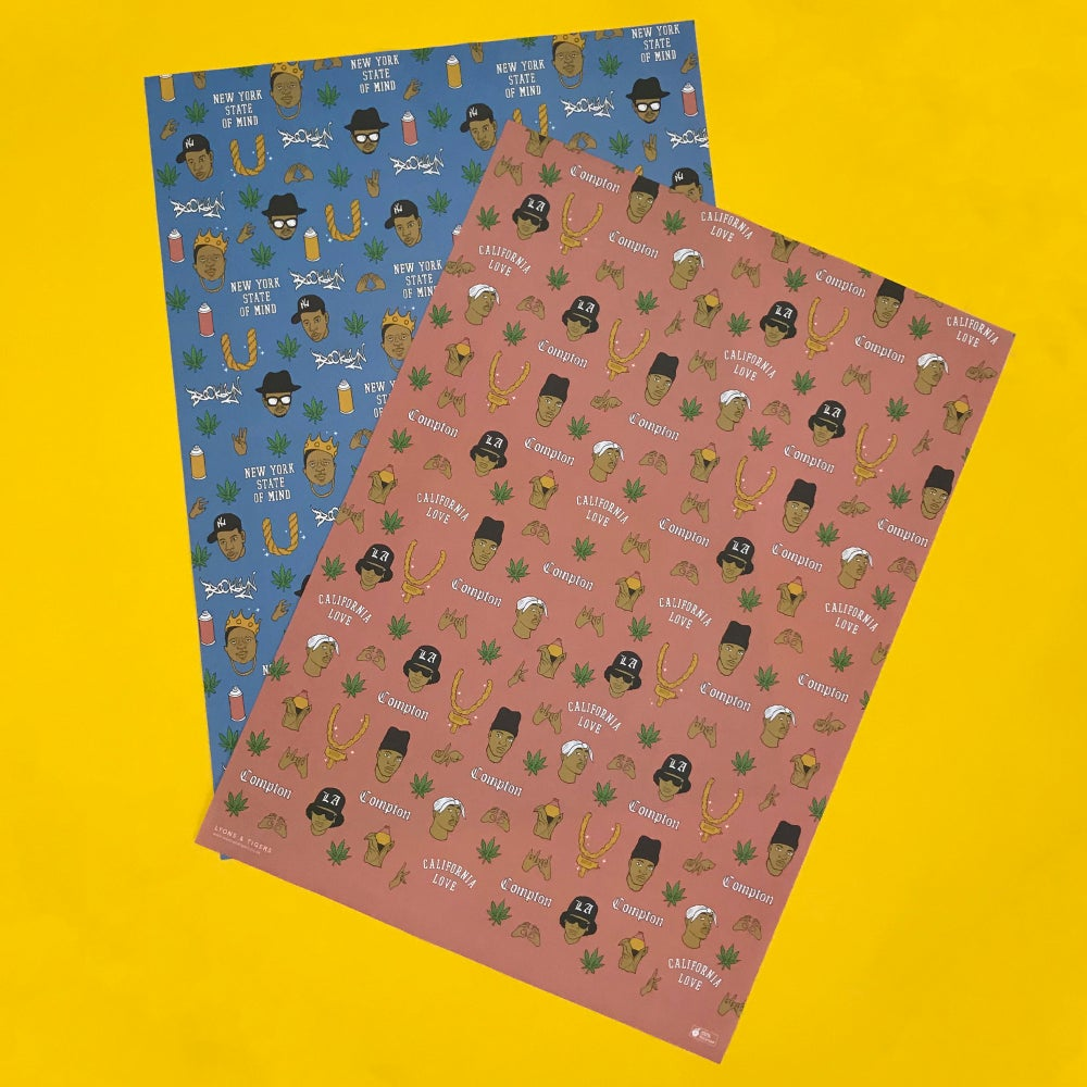 Image of Both sets of (w)rapping paper (x10)