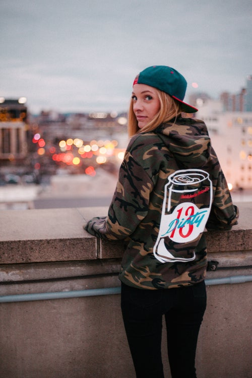 Image of Camo Beer Can Hoodie