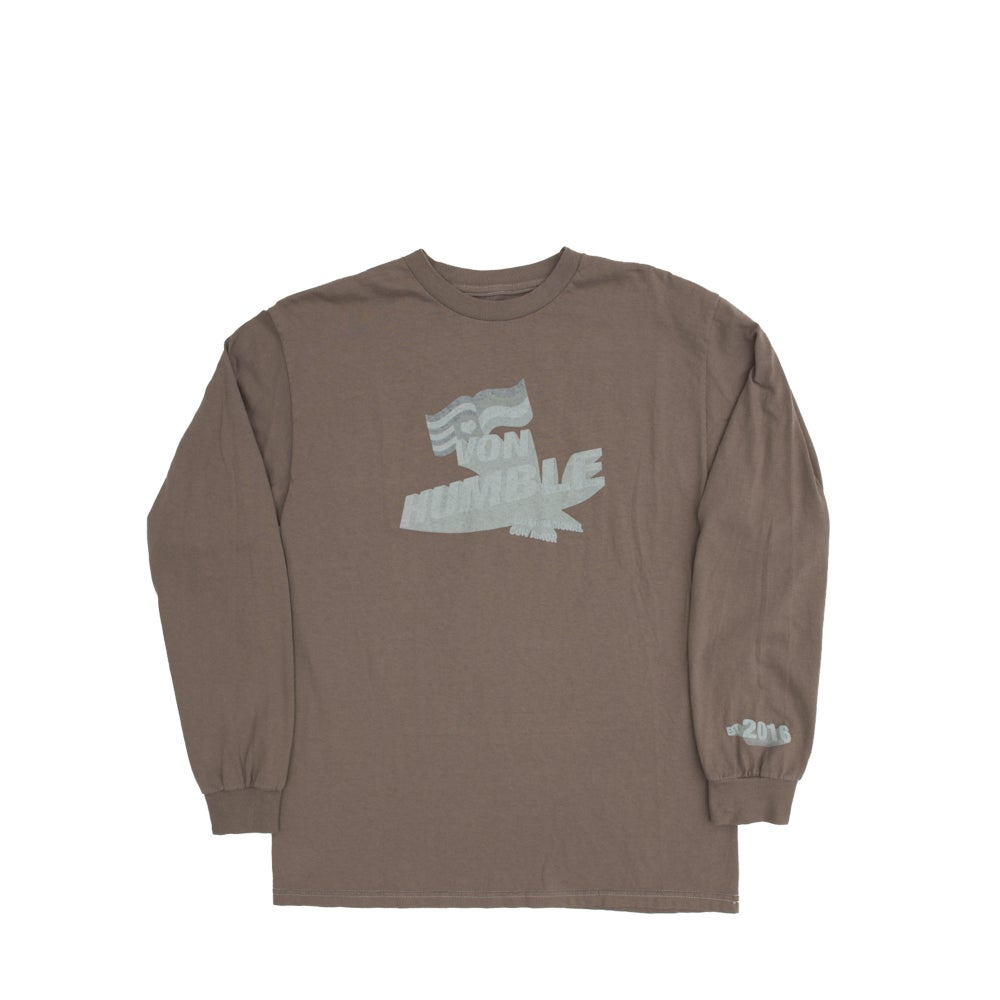 Image of Von Humble Long Sleeve (Vintage brown/faded logo)