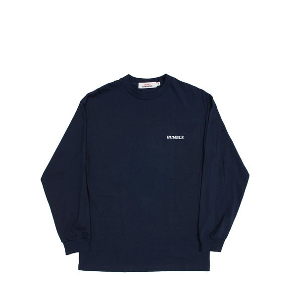 Image of humbleXhardbody Embroidered Long Sleeve (Navy)