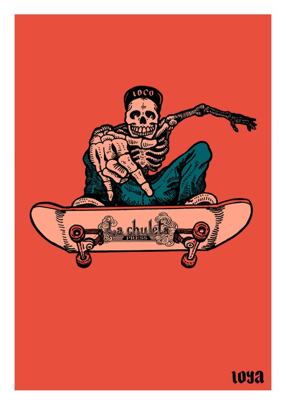 Image of Loco Skateleton Art Print