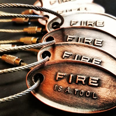 Image of Key chains- Fire is a Tool logo. Free shipping!