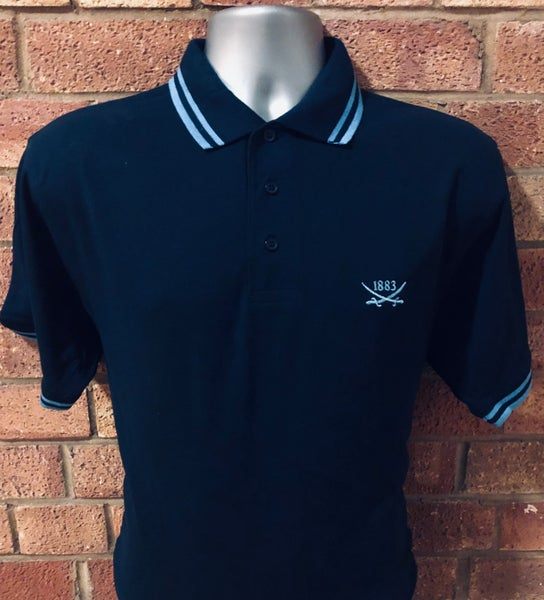 Image of Navy Blue Single Tipped Polo