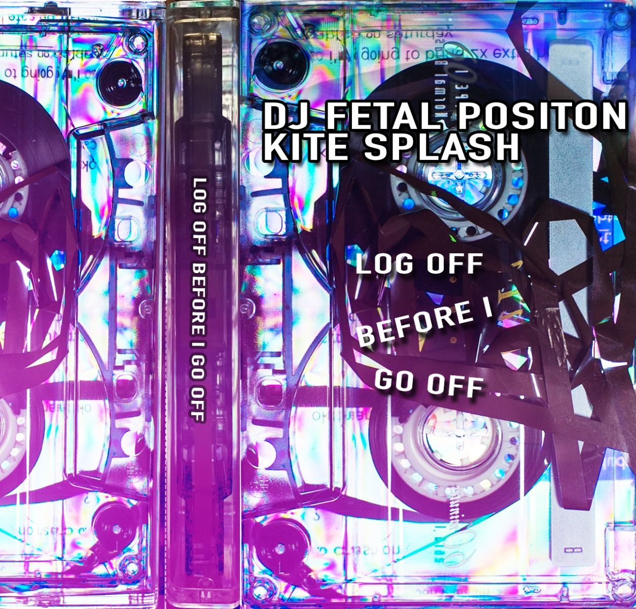 Image of kite splash & dj fetal position - log off before i go off
