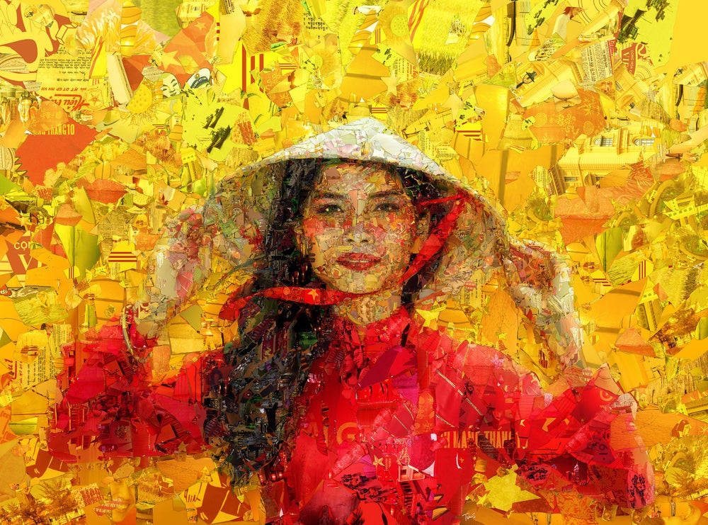 Image of Vietnam (Limited edition digital mosaic on paper)