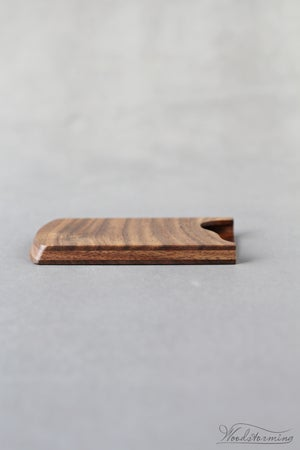 Image of Walnut business card holder for cards 90 x 51 mm - coworker gift - office accessory