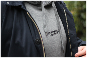 Image of 'LAZYITIS' HOODED SWEAT [GREY]
