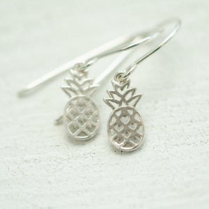 Image of Tiny sterling silver pineapple earrings