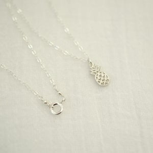 Image of Tiny sterling silver pineapple necklace