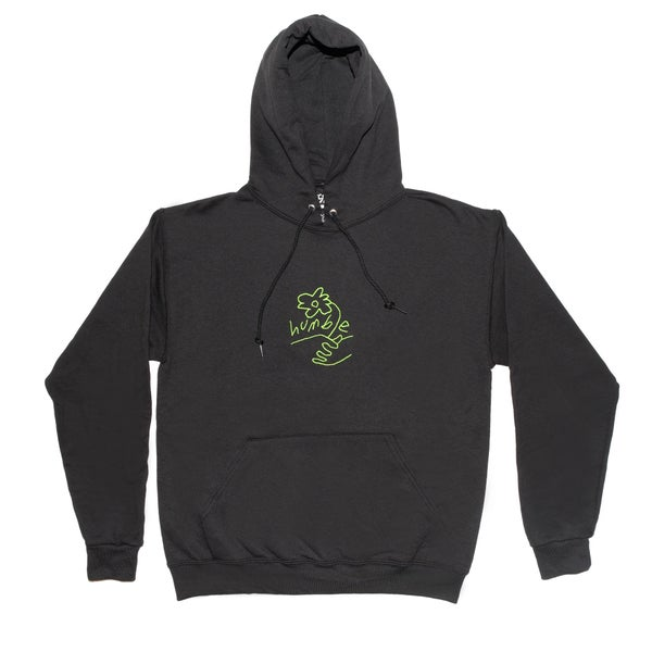 Image of Embroidered Logo Hoody (Black/Green)