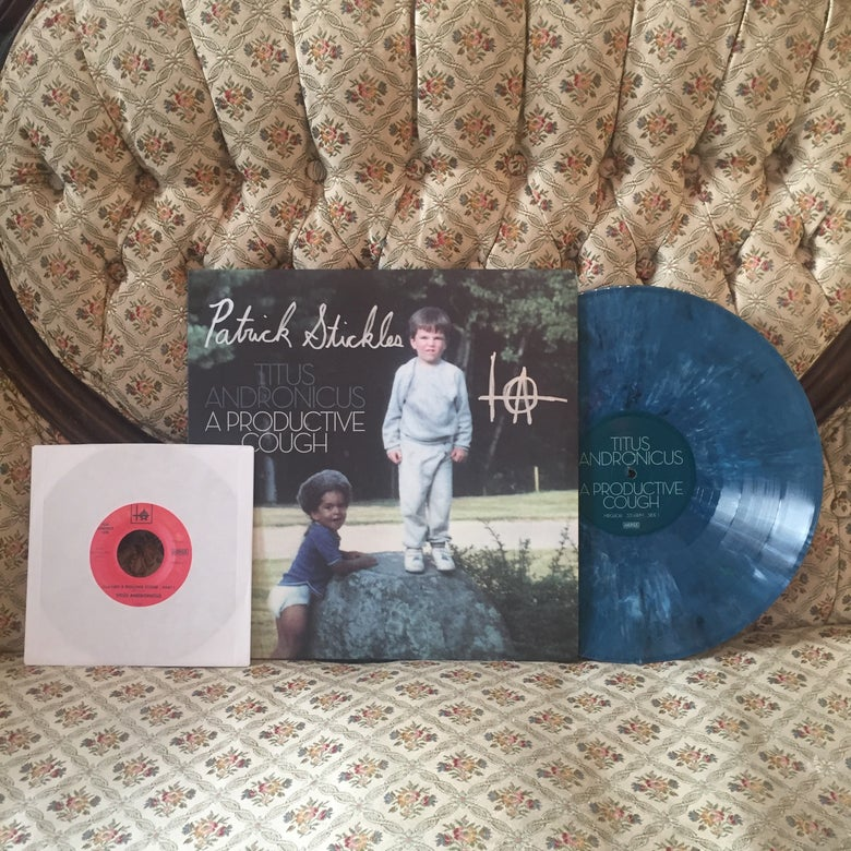 "Image of 'A Productive Cough' 12"" LP *AUTOGRAPHED* BLUE VINYL + BONUS 7"""