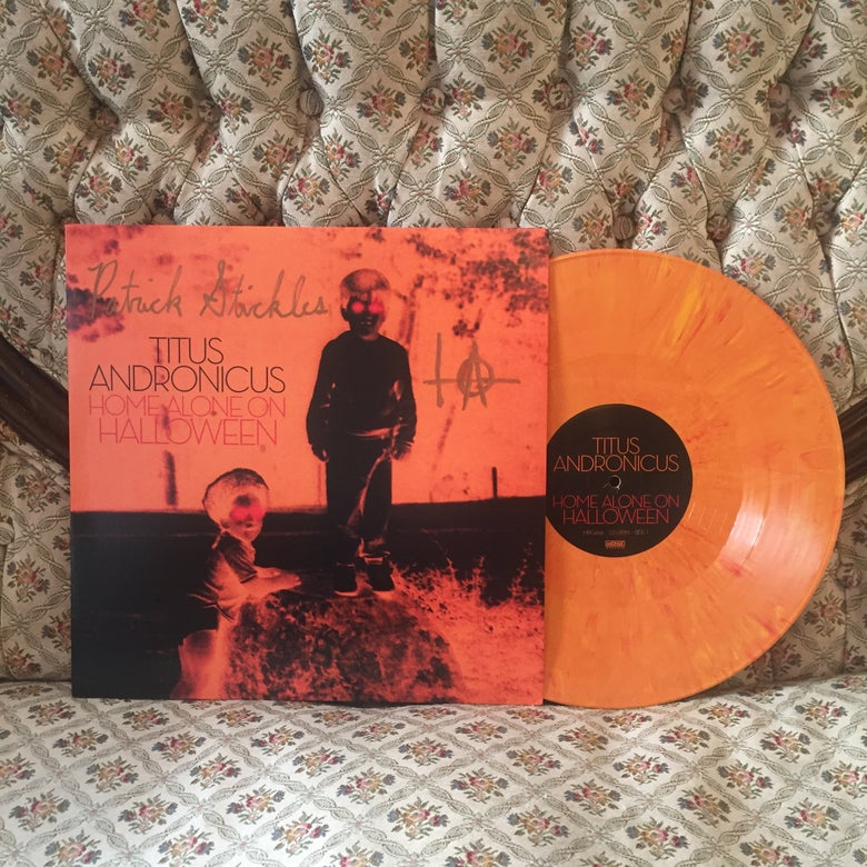 "Image of 'Home Alone on Halloween' 12"" EP *AUTOGRAPHED* ORANGE VINYL *RARE*"