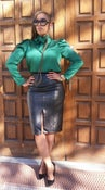 Image of Lethal Faux Leather Pencil Skirt