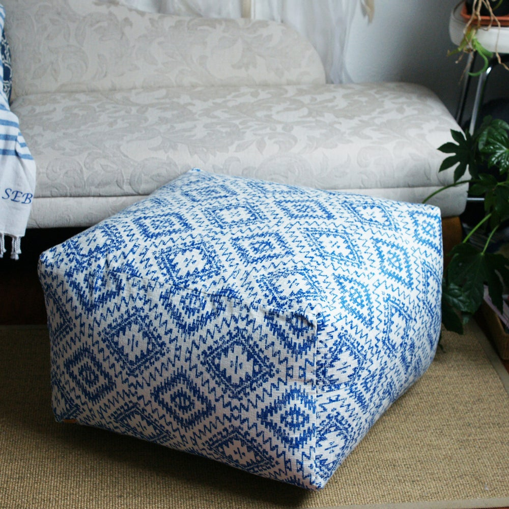 Image of Made to order extra large, one colour pouffe