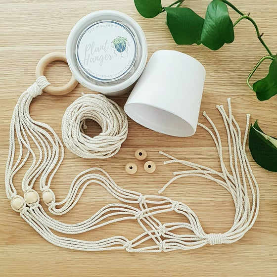 Image of DIY Macrame plant hanger kit