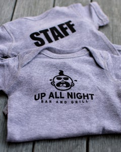 Image of Up All Night Bar and Grill Baby One Piece