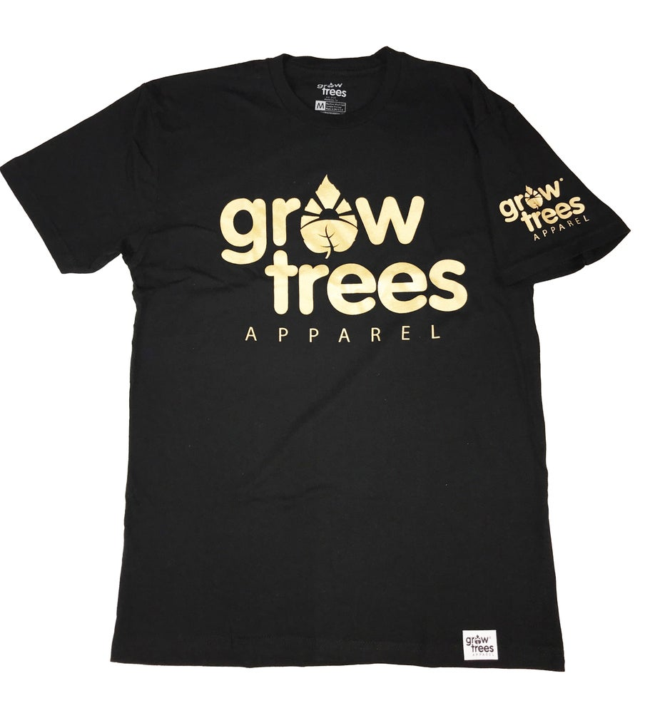 Image of Grow Trees Original (Black with Gold)