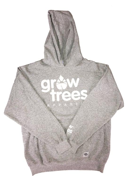 Image of Grow Trees Hoodie (Original) Heather Gray with White