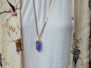 Image of crackle crystal pendants  - 3 colors
